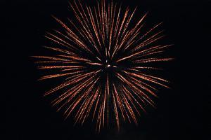 Fourth of July Fireworks Explode in the Sky in Norwich by Donna O'Meara