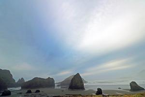 Haystack Rock at Oregon Beach, Usa by Donna O'Meara