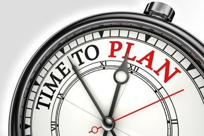Time To Plan Concept Clock
