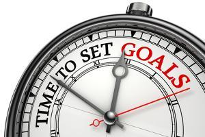 Time To Set Goals Concept Clock by donskarpo