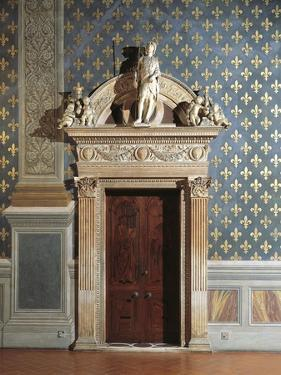 Door of Hall of Justice, Palazzo Vecchio, Florence, Italy