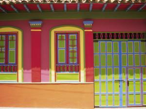 Doorway and Windows, Raquira, Royaca District, Colombia, South America by D Mace