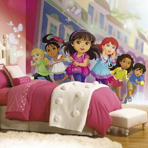 Dora And Friends XL Chair Rail Prepasted Mural