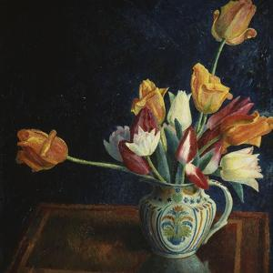Tulips in a Staffordshire Jug by Dora Carrington