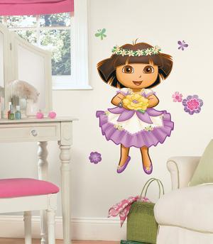 Dora's Enchanted Forest Peel & Stick Giant Wall Decal