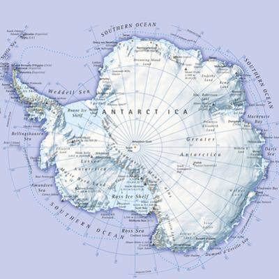 Digital Illustration of Antarctica