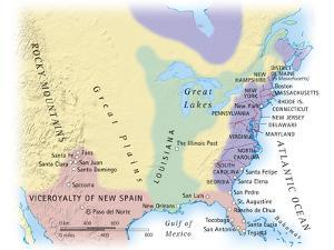 Digital Illustration of Map Showing 15Th Century European Colonization of the Americas by Dorling Kindersley