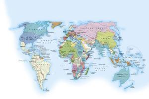 Digital Illustration of the World in 1900 Showing How it Was Governed by Different Nations by Dorling Kindersley