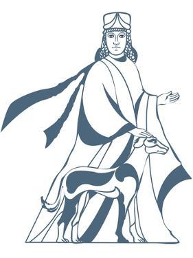 Digital Illustration of Vohu Manah Caretaker of Domestic Animals in Zoroastrianism by Dorling Kindersley