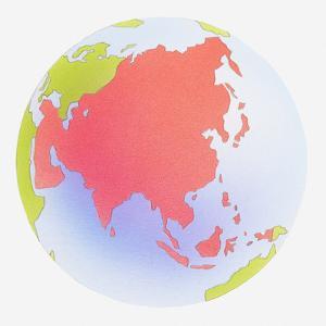 Illustration of Asia by Dorling Kindersley