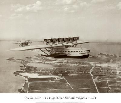 Dormier Do-X, in Flight over Norfolk, Virginia, 1931