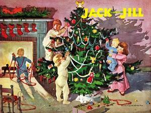 Deck the Halls - Jack and Jill, December 1950 by Dorothea Cooke
