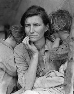 Destitute Pea Pickers by Dorothea Lange