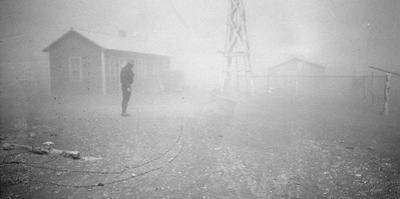 Dust storm New Mexico, 1935 by Dorothea Lange