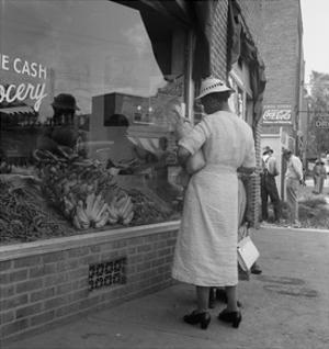 Main Street, Pittsboro, North Carolina by Dorothea Lange
