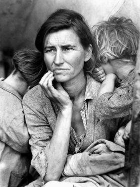 Migrant Mother, 1936. by Dorothea Lange