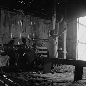 Revival meeting in a California garage, 1938 by Dorothea Lange