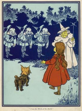 Dorothy and Toto Meet the Good Witch of the North and the Munchkins