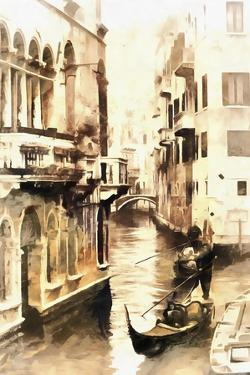 Gondoliers in Venice Vintage by Dorothy Berry-Lound