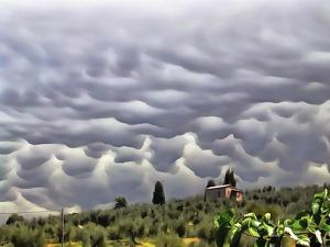 Mamatus Storm Clouds Over Paciano by Dorothy Berry-Lound
