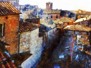 Roof Tops Citta della Pieve by Dorothy Berry-Lound