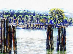Small Harbour at Passignano sul Trasimeno by Dorothy Berry-Lound