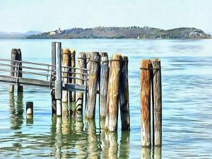 Wooden Boat Piles Passignano sul Trasimeno by Dorothy Berry-Lound