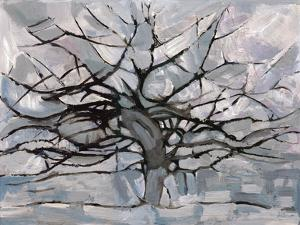 Grey Tree Abstract by Dorvard