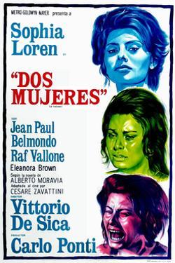 Dos Mujeres, (AKA Two Women, Aka La Ciociara), Sophia Loren on Argentinian Poster Art, 1960