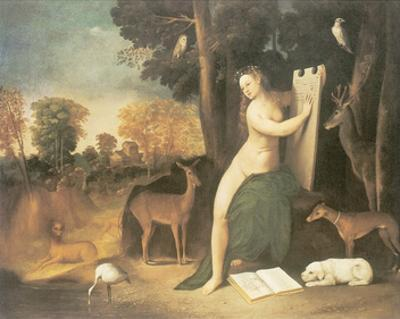 Circe And Her Lovers In A Landscape by Dosso Dossi