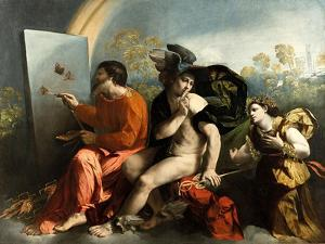 Jupiter, Mercury and the Virtue (Jupiter Painting Butterflie) by Dosso Dossi