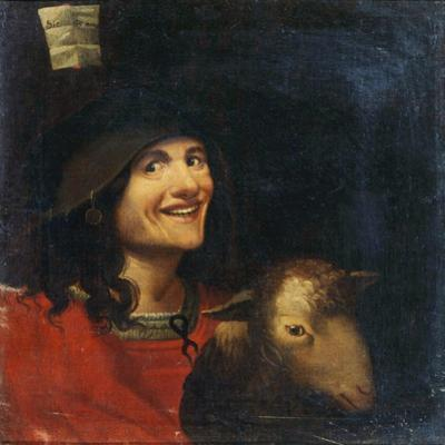 Peasant with a Sheep by Dosso Dossi