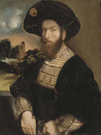 Portrait of a Man Wearing a Black Beret, c.1530 by Dosso Dossi