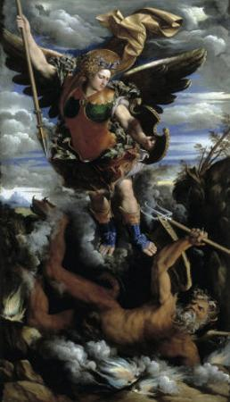 The Archangel Michael by Dosso Dossi