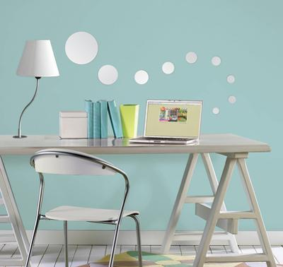 Dots Wall Mirror Decal Sticker