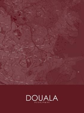 Douala, Cameroon Red Map