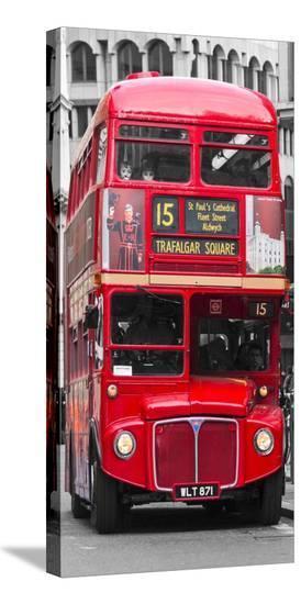 Double-Decker bus, London-Pangea Images-Stretched Canvas Print