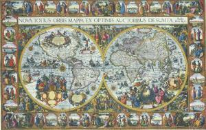 Double Hemisphere Map with Border 1611
