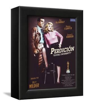 Double Indemnity, Spanish Movie Poster, 1944