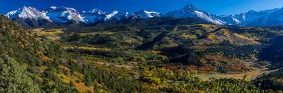Double RL Ranch near Ridgway, Colorado USA with the Sneffels Range in the San Juan Mountains