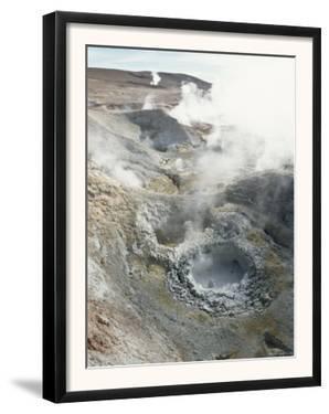 Geysers and Boiling Mud, Sol De Mamama Geyser, Altiplano, Bolivia by Doug Allan