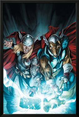 Secret Invasion: Thor No.3 Cover: Thor and Beta-Ray Bill by Doug Braithwaite