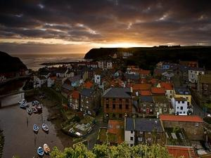 Dawn over Staithes by Doug Chinnery