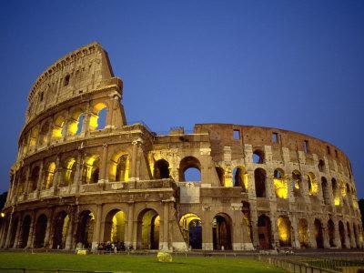 Exterior Amphitheater Ruins, Rome, Italy