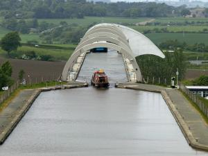 Falkirk Wheel Canal Boatlift by Doug McKinlay