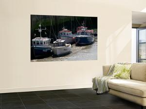 Fishing Boats at Low Tide by Doug McKinlay