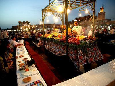 Food Stall on Dejemma El-Fna, Marrakesh, Morocco