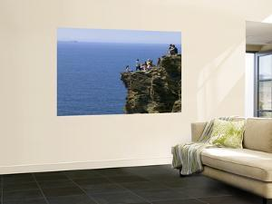 Rocky Atlantic Viewpoint at Tintagel Castle. by Doug McKinlay