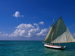 Sailing Boat, Ambergris Caye, Belize by Doug McKinlay