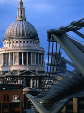 St. Paul's Cathedral and Millenium Bridge, London by Doug McKinlay